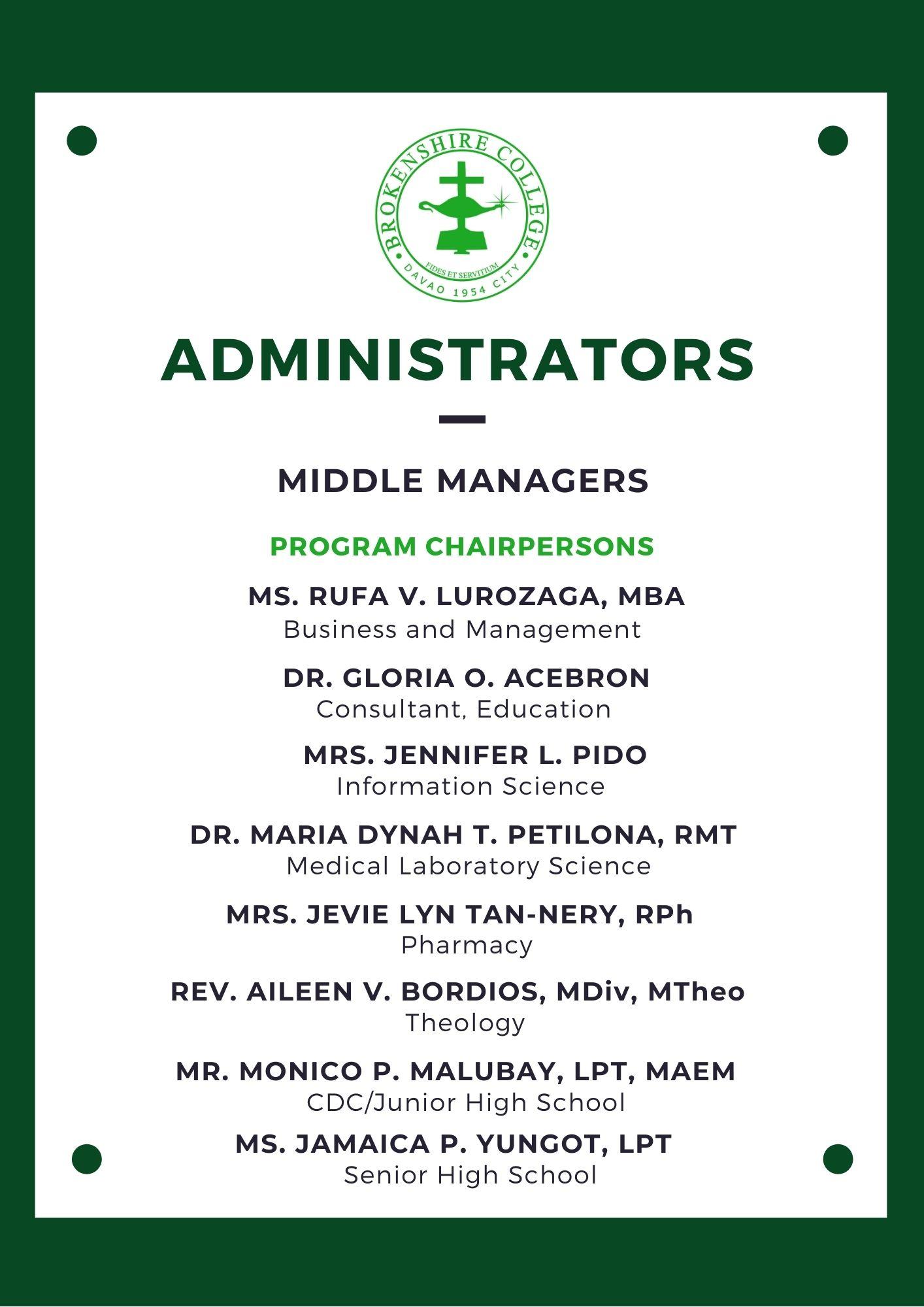 Program Chairperson